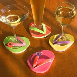 Ok, the idea of  a flip-flop for my drink made me smile. Summer Cocktails anyone?