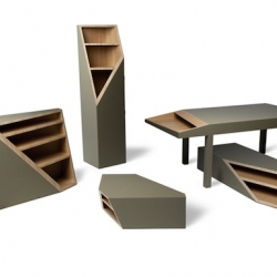 'Cutline' furniture series by Alessandro Busana.
