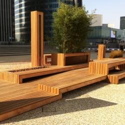 """Ilot Urbain"" urban furniture by French architects 4point5 at La Défense - Paris."