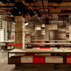 New Levi's flagship store in Paris - Champs Elysées by REV Architecture.