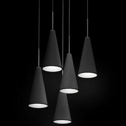 CONE  LIGHT by TOM DIXON.Small black aluminium Cone with acrylic front diffuser.