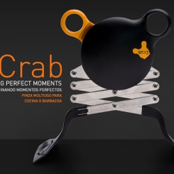 Crab is an attractive complement of kitchen, tongs fireproof extensible, suitable for use in food and washable in the dishwasher. by Series D