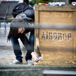 "Red Bull ""Airdrop"" is an interactive marketing campaign launched on college campuses"
