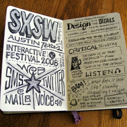 Take a look at Mike Rohde sketch notes from the SXSW 2008 sessions