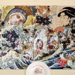 Interesting mix of Japanese and Italian Art Puzzle by Pasta de Waraku