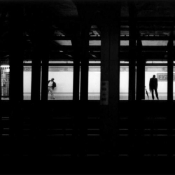 It's only when commuters stand right on the platform's edge at 23rd St that they become a silhouette. I noticed this on my daily commute and decided one day to stay a while and take a few pictures.