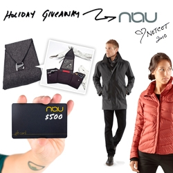 NOTCOT Holiday Giveaway #22: Nau! the eco-chic line is giving away a $500 Gift Certificate!