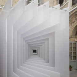 For the 2012 edition of the Festival of Lively Architecture in Montpellier, architects Adam Scales, Berthelimeau Peter, Paul Van Den Berg devised installation 'Reframe'.
