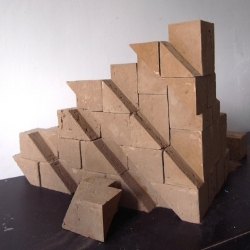 """With """"Brick"""", young Dutch designers Leanie van der Vyver and Lars Zwirs devised a terracotta brick."""