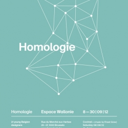 8 to 30 September, 'Espace Wallonie' in Brussels will host the exhibition 'Homology'. Organized in partnership with Muuuz.com, this exhibition brings together the work of young Belgian designers through a selection of twenty everyday objects