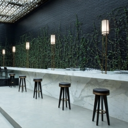 After signing the interior of the restaurant Beefbar Monaco, Poyet & Humbert agency achieves development of the first BeefBar Mexico.