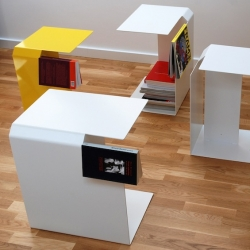 'Bookmarks' Bookcases by Polish designer Pawel  Grobelny.