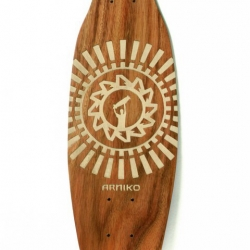 Arniko skateboards are made in Nepal in cooperation with small local enterprises using the traditional Nepalese art of woodcarving. A distinctive combination of craftsmanship and design evolves.  Since every piece of timber is unique, it gives the board a natural identity and makes every Arniko Skateboard a one of a kind.