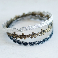 New York based jewelry designer, 24Karas is turning metal into lace.