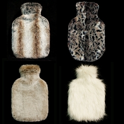 "Moore And Moore's ""hotties"" are luxury FAUX fur hot water bottles. The ultimate gift for the sore and crampy. From mink to artic fox and even fun colors are available."