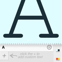 A Frame App ~ iPhone app that allows you to take your own fonts with you.