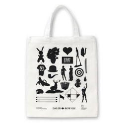 Pentagram's Angus Hyland designed this free bag for CassArt - how many well-known silhouetted artworks can you spot?