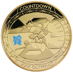 The UK's Royal Mint is to release one special coin per year in the run-up to the 2012 Olympics. The first has just been released: just a shame about that logo...