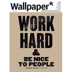 The cover of next month's  Wallpaper* will feature Anthony Burrill's wonderful poster designs