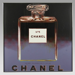 """This Chanel No.5 is part of  a set of screenprints from Andy Warhol's """"ADS 1985"""" suite that are being auctioned."""