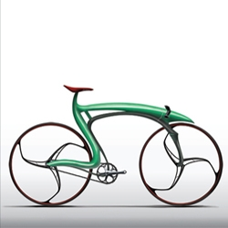 Designer Alex Suvajac created this A.FrameFix concept track bike that, despite its highly technical and space-age appearance was inspired by a frog. Nature meets technology.