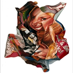 Artist Steve Ellis paints images of crumpled celebrity magazines as part of a new series of work.