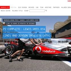 Cool new site created by Work Club and Pirata for Formula 1 team McLaren Mercedes. The site streams live data from the pit lane