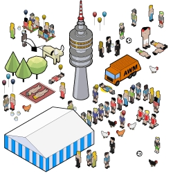 An Interactive Infographic about the famous Munich Oktoberfest by Students of University of Applied Sciences Potsdam in collaboration with Bayrischer Rundfunk.