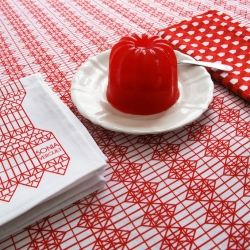 'Folklore' tablecloth by the French designer Sonia Verguet and the chef Olivier Meyer.
