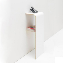 Tojo Fon & Tojo Find are minimalistic furniture pieces for the entrance of your home. They hold your phone and everything you need as you enter and leave the house.