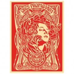 'Obey : The Print Show' an exhibition by art gallery Rue de Beauce in Paris, France.