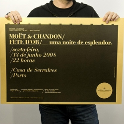 Moet&Chandon Invitation for Gold Party at Serralves, Oporto.