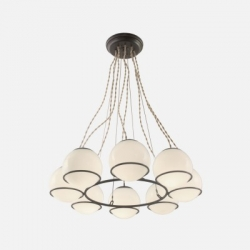 Schoolhouse Electric & Supply Co.'s Orbit 8 Chandelier. Handcrafted in Portland, OR.
