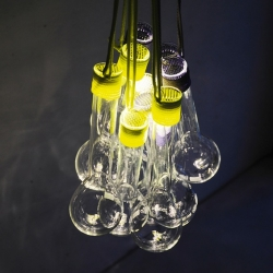 'Wrapped Glass' lighting by the designers from Bureau Purée.