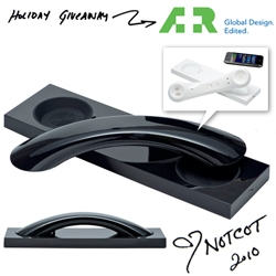 NOTCOT Holiday Giveaway #24: A+R ~ the gorgeously minimalist David Turpin & Native Union's Moshi Moshi MM03 Bluetooth Cellphone + VOIP Handset!