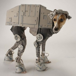 Dog AT-AT costume by Laika artist Katie Mello.