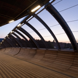 'Footbridge' by the architects DVVD in Villetaneuse - France.