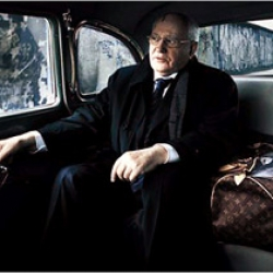 Last Soviet Union president Mikhail Gorbachev as a new model for Louis Vuitton by Annie Leibovitz