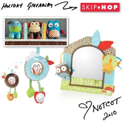 NOTCOT Holiday Giveaway #25: Skip Hop! They are giving two lucky readers: a Night and Day Discovery Toy, a Friendly Forest Mirror, and Zoo Bookends.