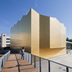 'Théatre 95' by French architects 'Gaëlle Péneau architectes associés' in Cergy-Pontoise, France.