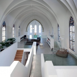 'Saint Jakobus Church' rehabilitation by the architects Zecc in Utrecht, Netherlands.