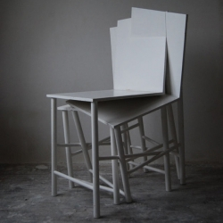 'Ssstoell' chair and 'Kkkrukk' stool by the Dutch designer Charlotte Girod.