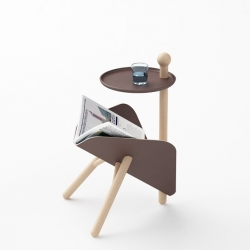 'ETable' a small side table with magazine rack integrated by the Milanese designer Tommaso Bistacchi.