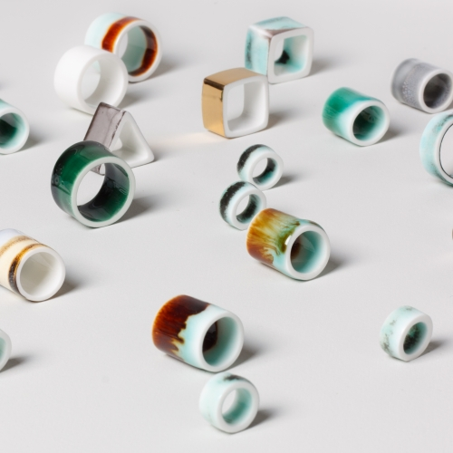 Latest Studio Glaze Fine Bone China Jewelry Pendants from Reiko Kaneko.