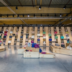 'Upside store' by (Atelier) M + G in Herstal, Belgium.