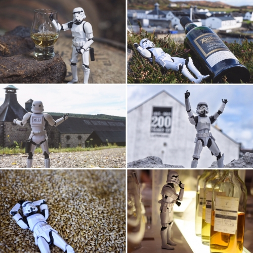 """Scotch Trooper visits Scotland"" - The whisky drinking Stormtroopers from Scotch Trooper's Instagram finally made it to Scotland to visit some of their favorite distilleries."