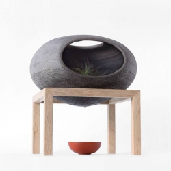 'Wellspring', a hybrid object, meeting vase and terrarium by the Spanish designer Martín Azúa.