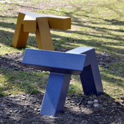 'Animali Domesticki' outdoor benches by French designer Jean-Sebastien Poncet for Edition Sous Etiquettes.