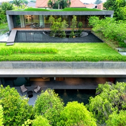 'The Wall House', when two houses become one, by Farm Architects in Singapore.