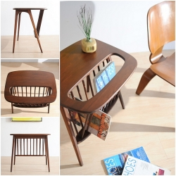 Gorgeous 60s Danish Modern Occasional Table Magazine Stand Eames ~ pity it already sold on ebay, but the pics are so sweet!